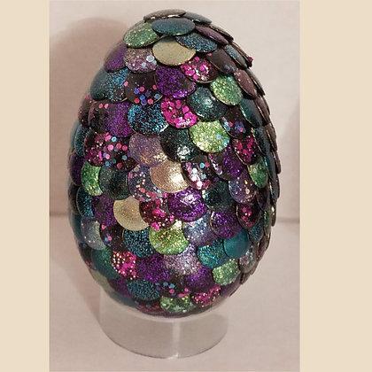 Multicolored Glitter 2.75 inch Dragon Egg