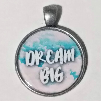 Dream Big Quote Necklace Pendant with Chain