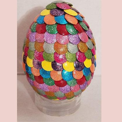Multicolored Glitter Rainbow 3 inch Dragon Egg
