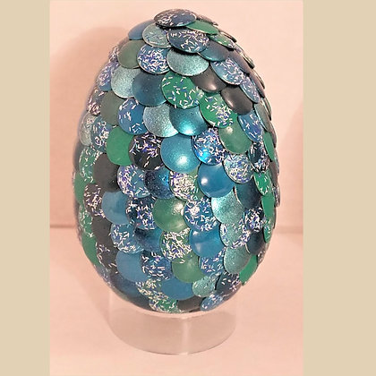 Multicolored Green Teal 2.75 inch Dragon Egg