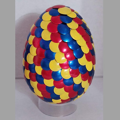 Red Blue Yellow 3 inch Dragon Egg