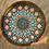 """Thumbnail: 15"""" Painted Natural Mandala Resin Acacia Wood Charcuterie Board Serving Tray"""