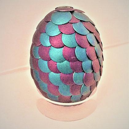 Blue Black Satin 2 inch Dragon Egg