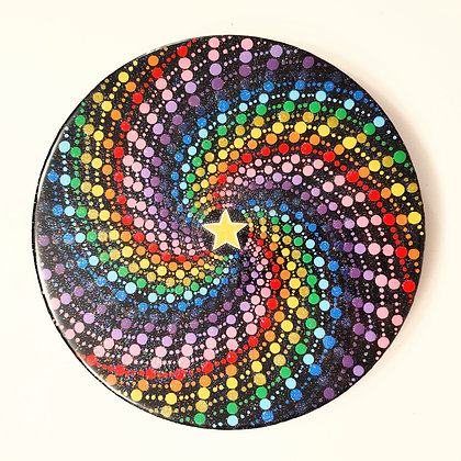 """Luminous Vortex"" Spiral Painting"