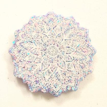 Pastel Mandala Resin Coaster