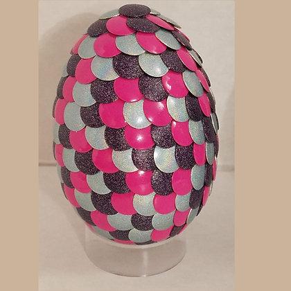 Pink Silver Purple 2.75 inch Dragon Egg