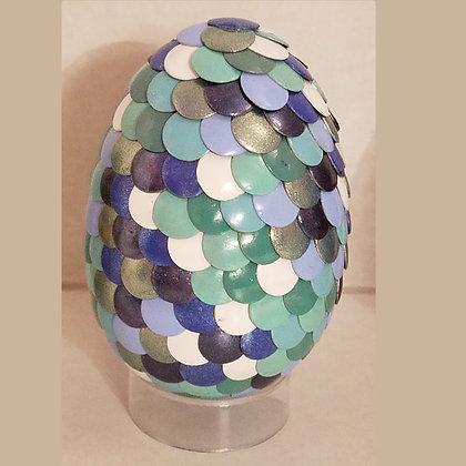 Multicolored Green 2.75 inch Dragon Egg