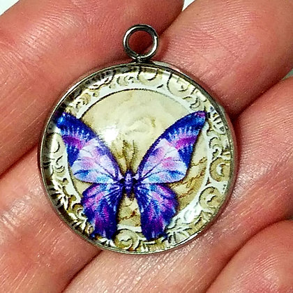 Butterfly Necklace Pendant with Chain