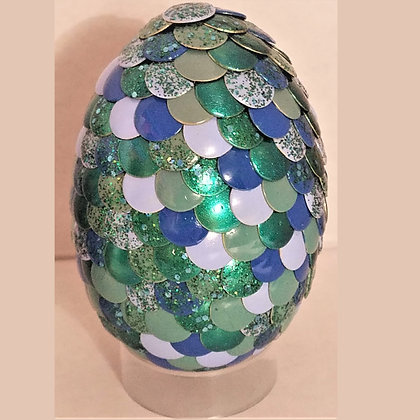 Multicolored Teal Blue 2.75 inch Dragon Egg