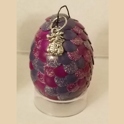 Purple Multicolored 2 inch Dragon Egg with Charm