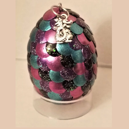 Multicolored Purple 2 inch Dragon Egg with Charm