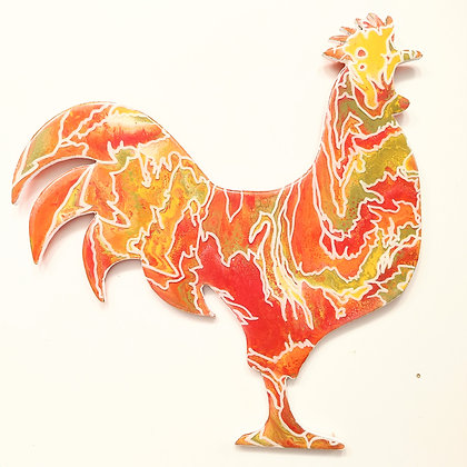 """Chicken Painting """"Being Free"""""""