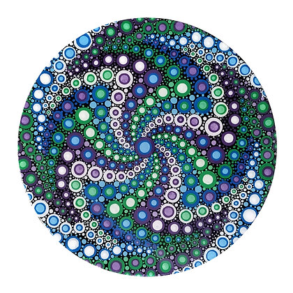 """10"""" Round """"Cool Jitters"""" Dot Painting"""
