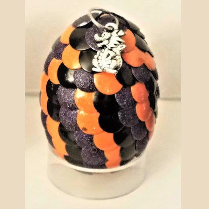 Multicolored Orange 2 inch Dragon Egg with Charm