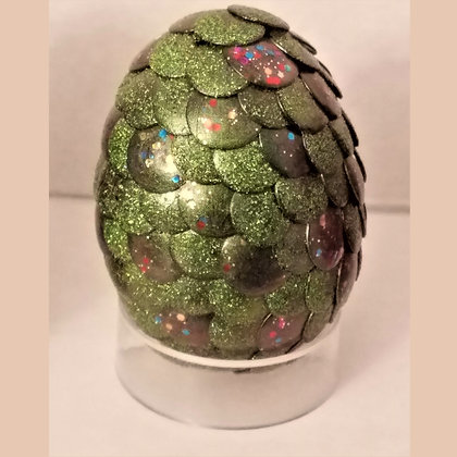Green Glitter 2.75 inch Dragon Egg