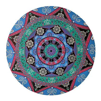 """36"""" Round """"Galactic Marvel"""" Mandala Painting"""