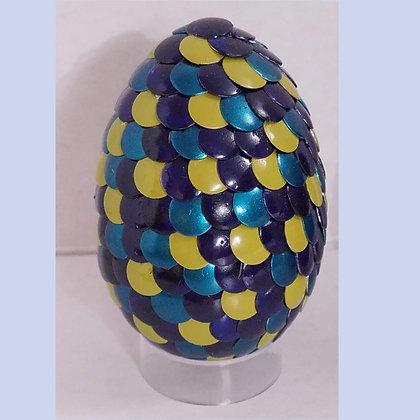 Blue Yellow 2.75 inch Dragon Egg