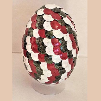 Green White Red 2.75 inch Dragon Egg