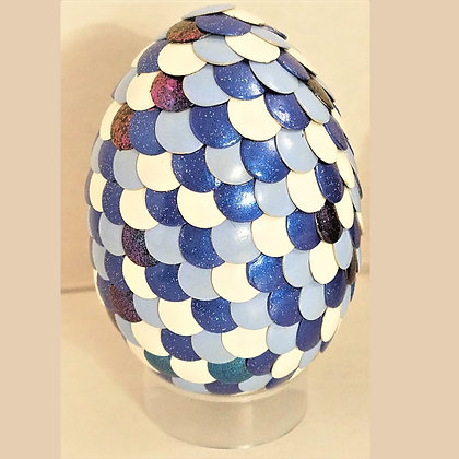 Blue White 2.75 inch Dragon Egg