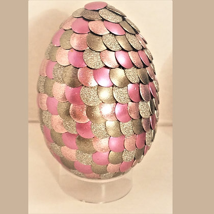 Pink Gold 2.75 inch Dragon Egg