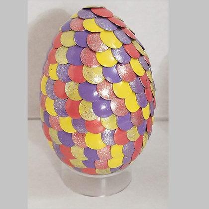 Peach Yellow Purple 2.75 inch Dragon Egg