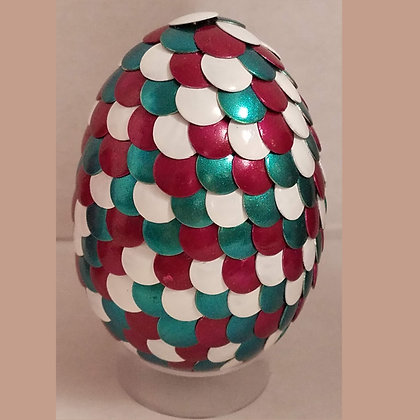 White Teal Red 2.75 inch Dragon Egg