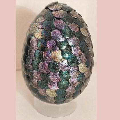 Multicolored Green Glitter 2.75 inch Dragon Egg