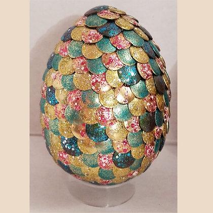 Multicolored Gold 3 inch Dragon Egg
