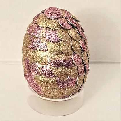 Pink Gold Glitter 2 inch Dragon Egg