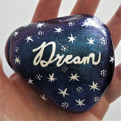 Handpainted Colorshift Dream Northeast Quote Stone