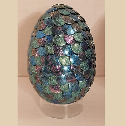 Blue Green Glitter 2.75 inch Dragon Egg