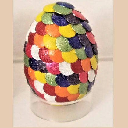 Rainbow 2 inch Dragon Egg with Charm