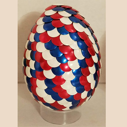 Red White Blue American 3 inch Dragon Egg