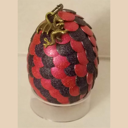 Pink Purple 2 inch Dragon Egg with Charm