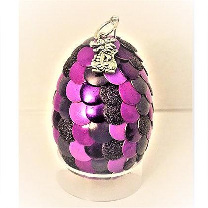 Purple 2 inch Dragon Egg with Charm