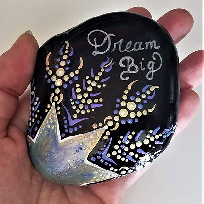 Handpainted Dream Big Northeast Quote Stone