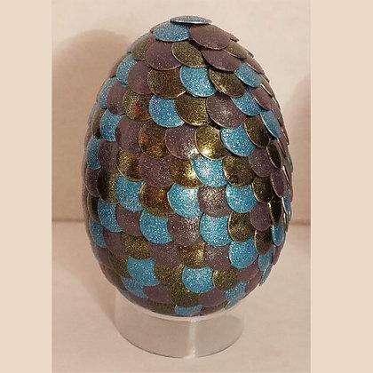 Brown Blue Glitter 2.75 inch Dragon Egg