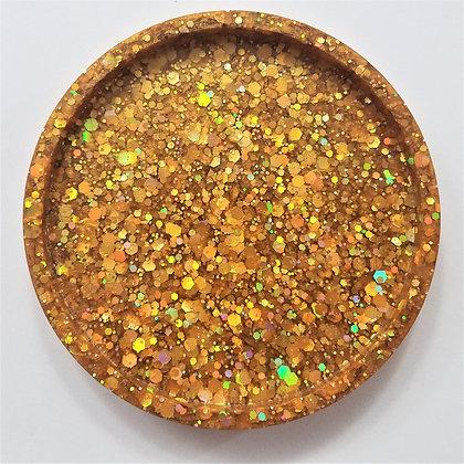 Sparkling Glitter Gold Resin Coaster