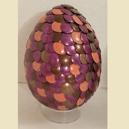 Multicolored Brown Purple 3 inch Dragon Egg