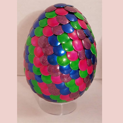 Multicolored 3 inch Dragon Egg