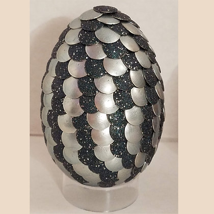 Textured Deep Gray 2.75 inch Dragon Egg