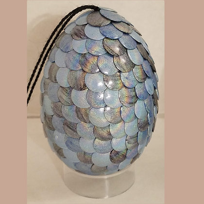 Silver Blue Holographic 2.75 inch Dragon Egg