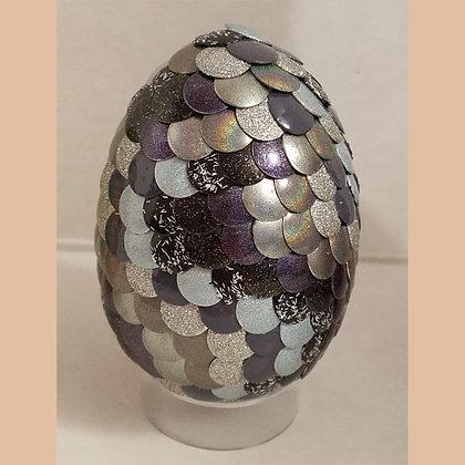 Multicolored Colorshift Silver Gray Holographic 2.75 inch Dragon Egg