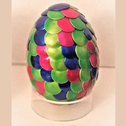 Multicolored Green 2 inch Dragon Egg