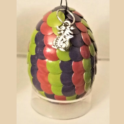 Green Purple Pink 2 inch Dragon Egg with Charm