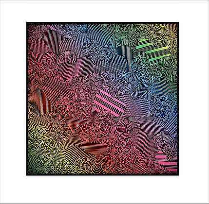 """""""Love Conquers All"""" Rainbow Scratch Art"""
