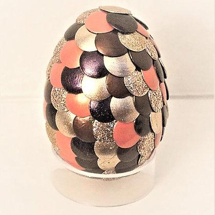 Peach Brown Multicolored 2 inch Dragon Egg