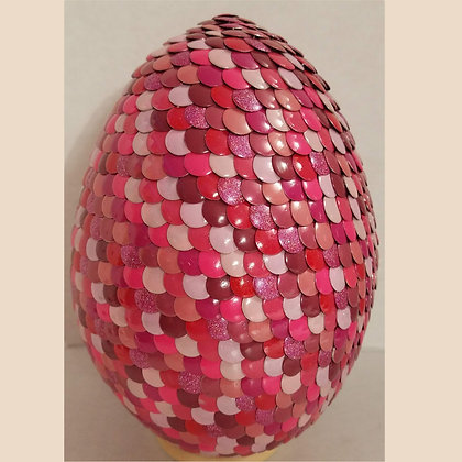 Multicolored Pink 6 inch Dragon Egg