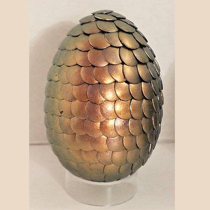 Copper Green Colorshift 2.75 inch Dragon Egg