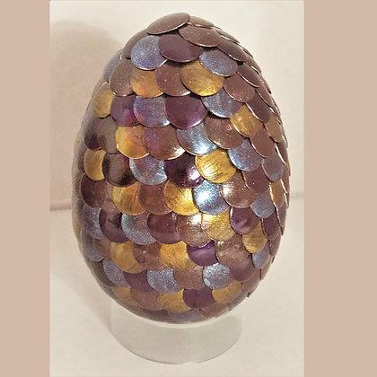 Multicolored Gold 2.75 inch Dragon Egg